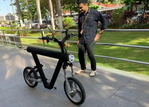 Read more about the article Mengenal ECR 350 (V-Bike), Prototype ELBIKE yang mejeng di event Idea Pitching Batch #2 Agni